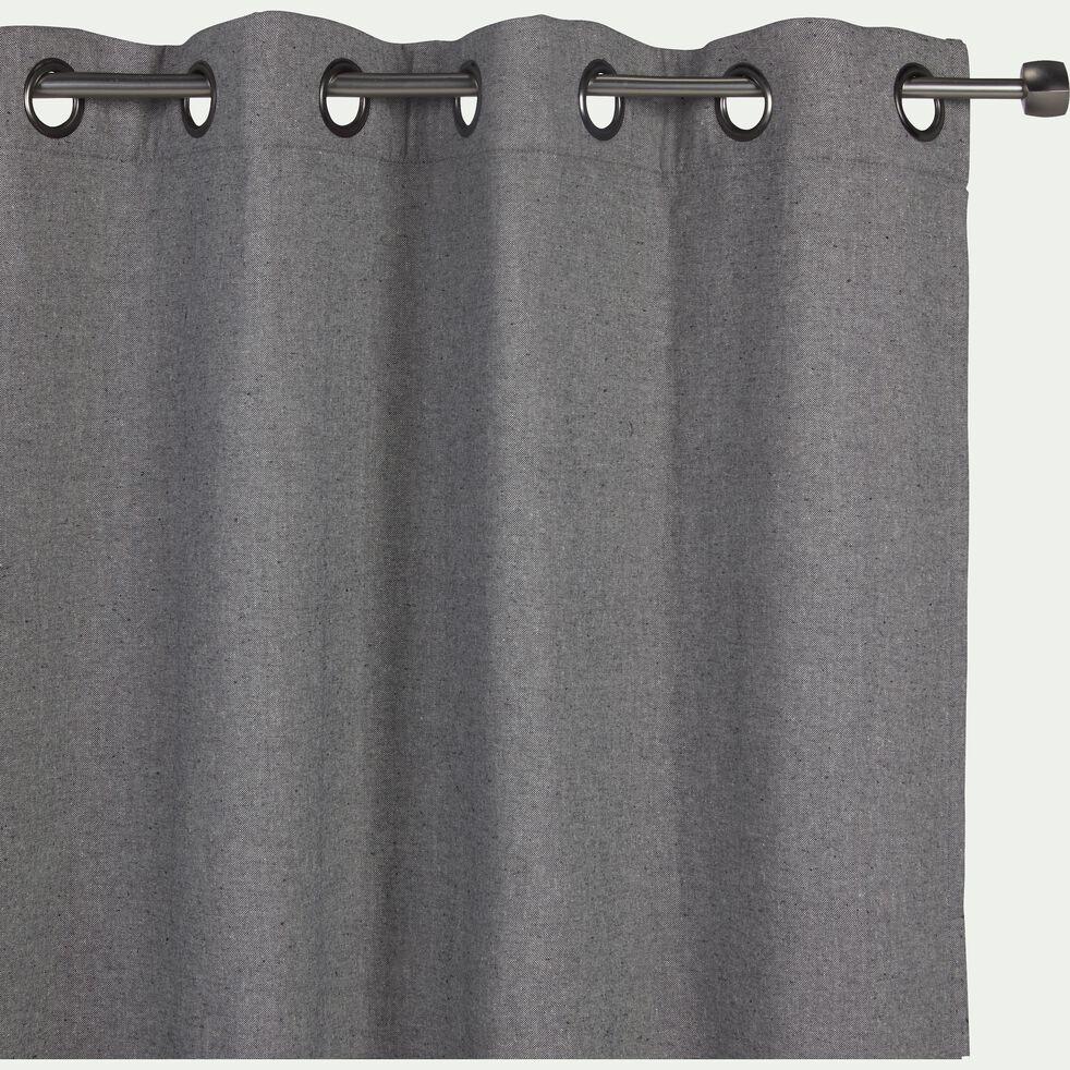 Rideau à œillets en lin et coton - gris restanque 140x300cm-CEZE