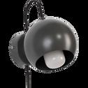 Applique en métal vert cèdre D12cm-BALL