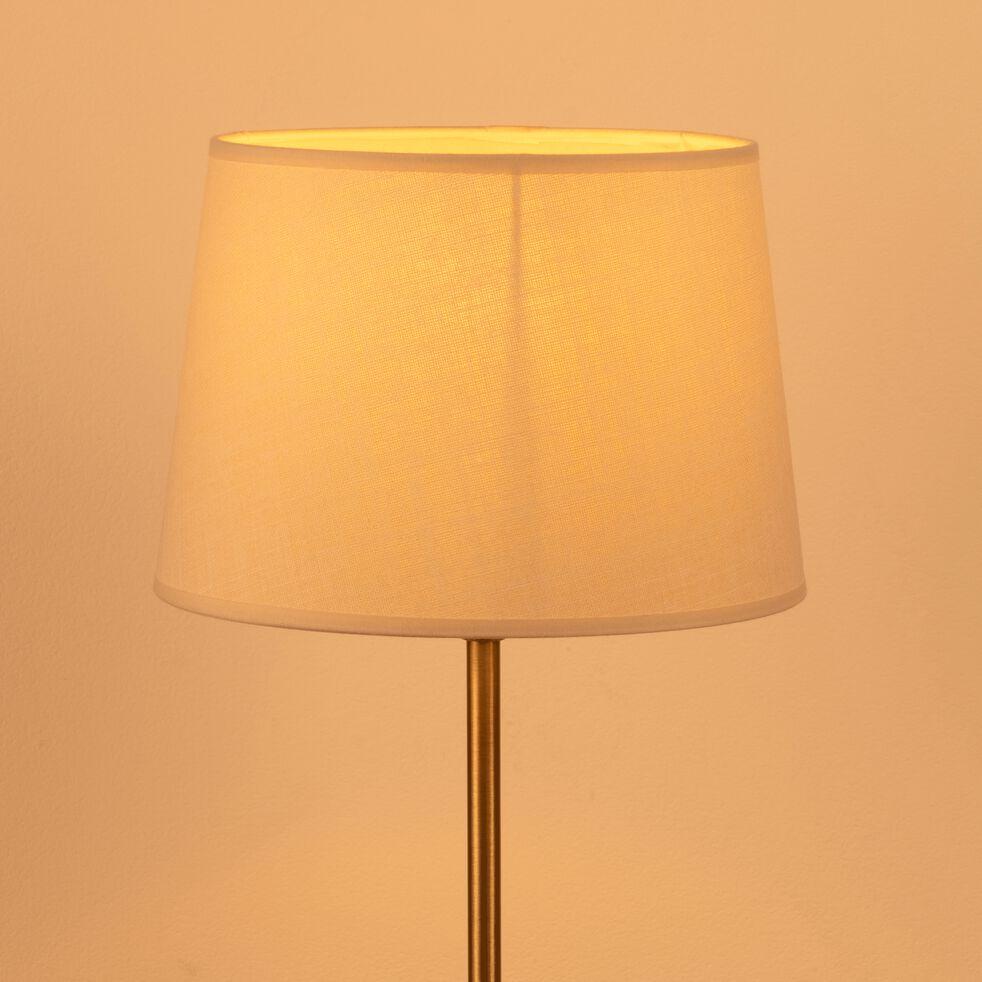 Abat-jour en coton - D18cm beige roucas-MISTRAL
