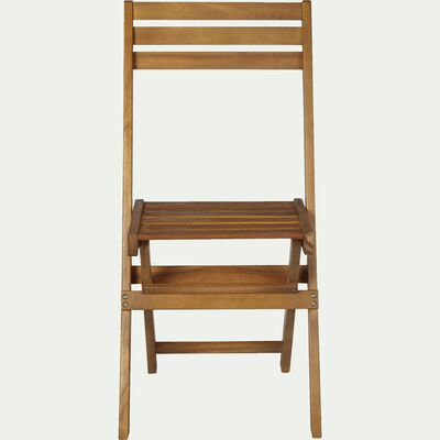 Chaise de jardin pliante en acacia - naturel-MILANA
