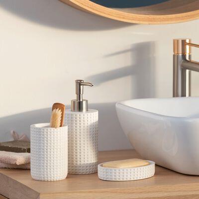 Set de salle de bain blanc-LOUBET