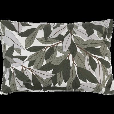 Lot de 2 taies d'oreiller en coton motif Laurier - rectangle 50x70 cm-SARA