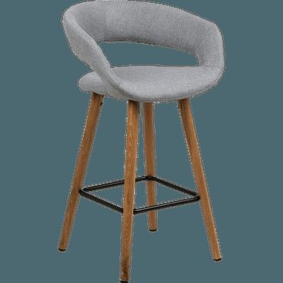 Chaise De Bar En Tissu Avec Accoudoirs Gris