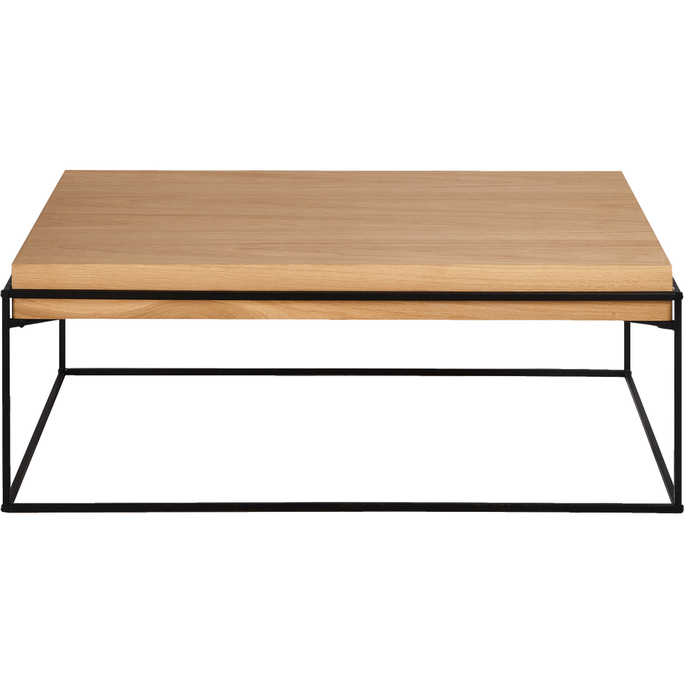 table basse rectangulaire en acier et placage ch ne cesarine tables basses alinea. Black Bedroom Furniture Sets. Home Design Ideas