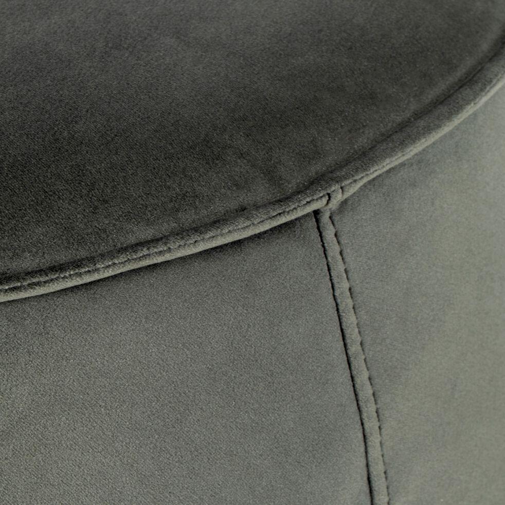 Pouf rond en tissu - vert cèdre L60xH34cm-CABARA