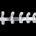 Patère en aluminium argentée 5 crochets-MURIA