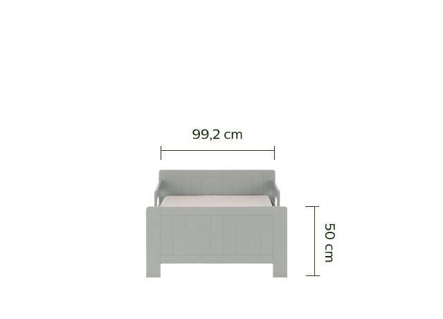 lit 1 place évolutif vert en pin 3 positions pour enfant-POLLUX