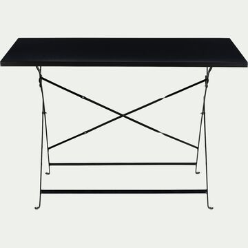 Table de jardin rectangle pliante - noir (2 places)-CERVIONE
