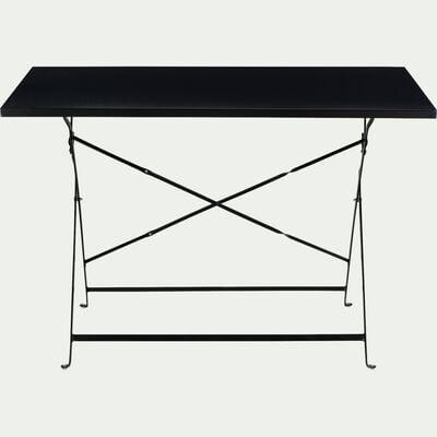 Table de jardin rectangle pliante - noir (2 places)-CERVIONE