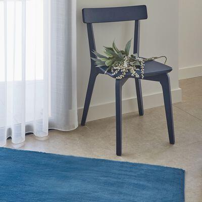 Tapis imitation fourrure - bleu figuerolles 150x200cm-ROBIN