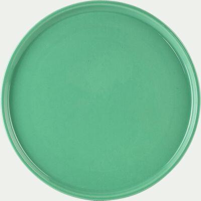 Assiette à dessert en faïence vert d'eau D21cm-VADIM
