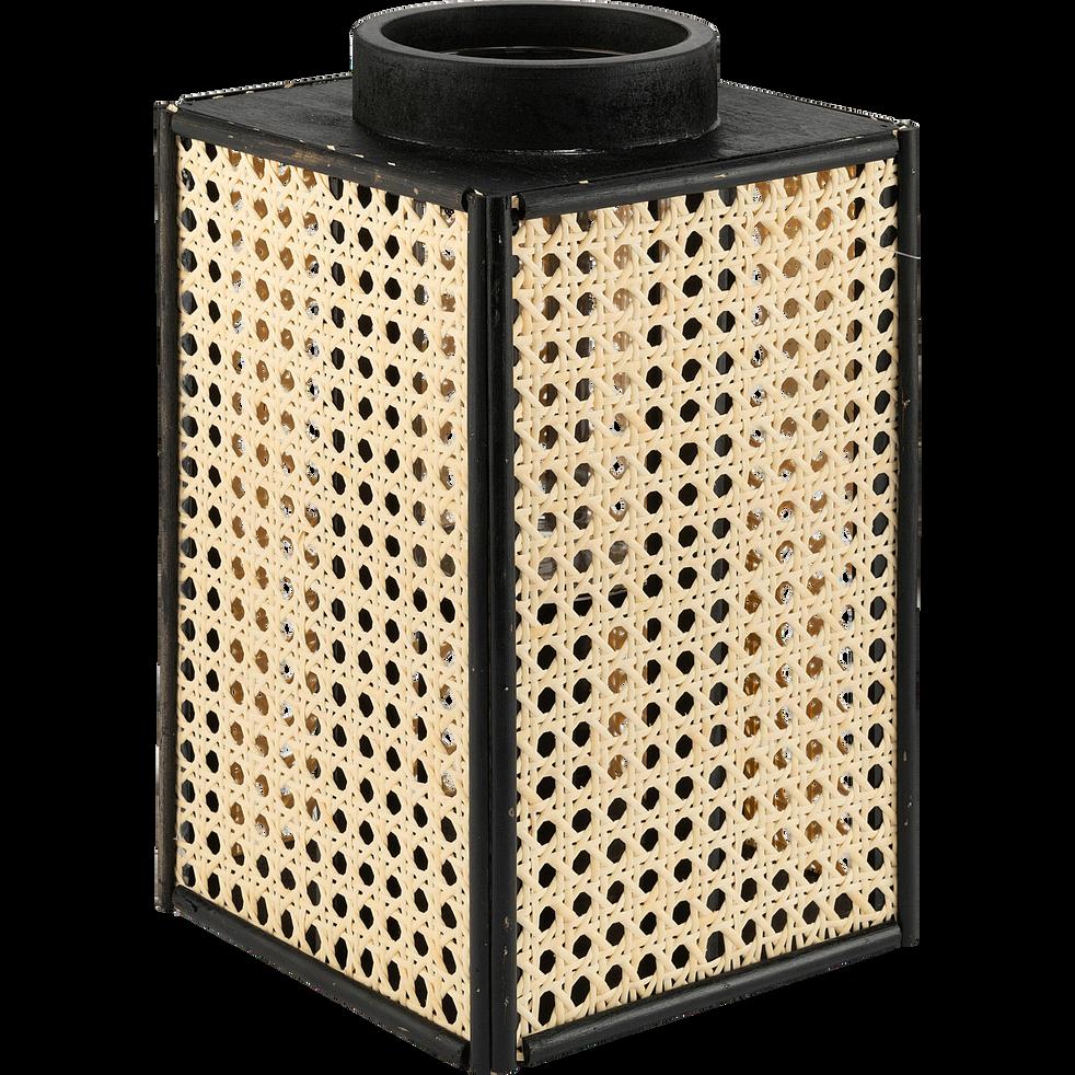 Lanterne imitation cannage H27,3cm-PUERTO