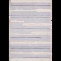Tapis rectangulaire motifs rayés et jeu de matières 120x170 cm-MAGGIE