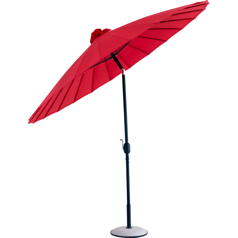 parasol orientable rouge d270cm shangha parasols et voiles d 39 ombrage alinea. Black Bedroom Furniture Sets. Home Design Ideas