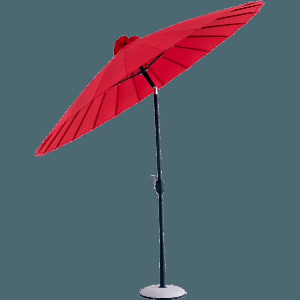 parasol orientable rouge d270cm shangha parasols et voiles d 39 ombrage alinea. Black Bedroom Furniture Sets. Home Design Ideas