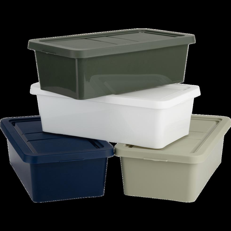 Boîte de rangement en plastique blanc H16,8xP34xl40 cm-ANDATI