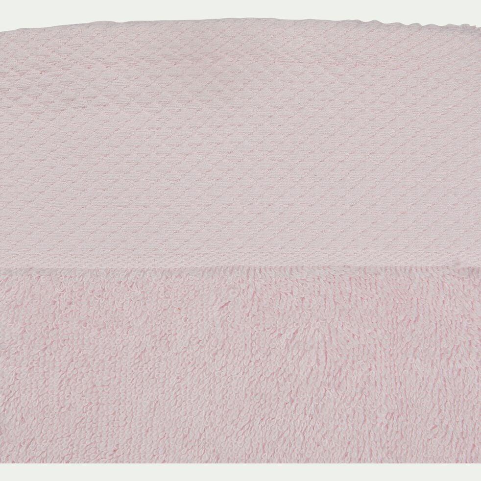 Serviette invité en coton peigné - rose simos 30x50cm-AZUR