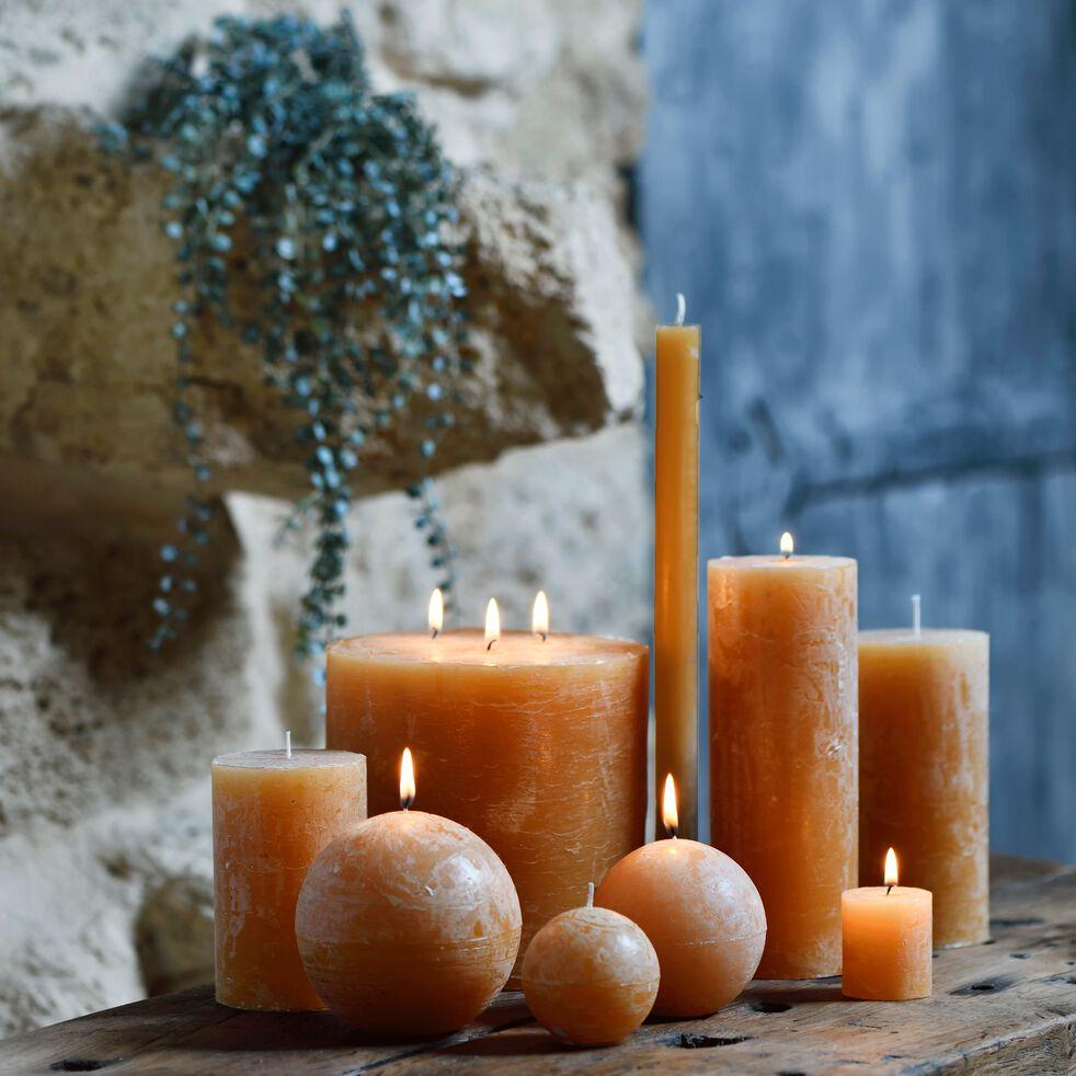 Bougie cylindrique - beige nèfle H11cm-BEJAIA