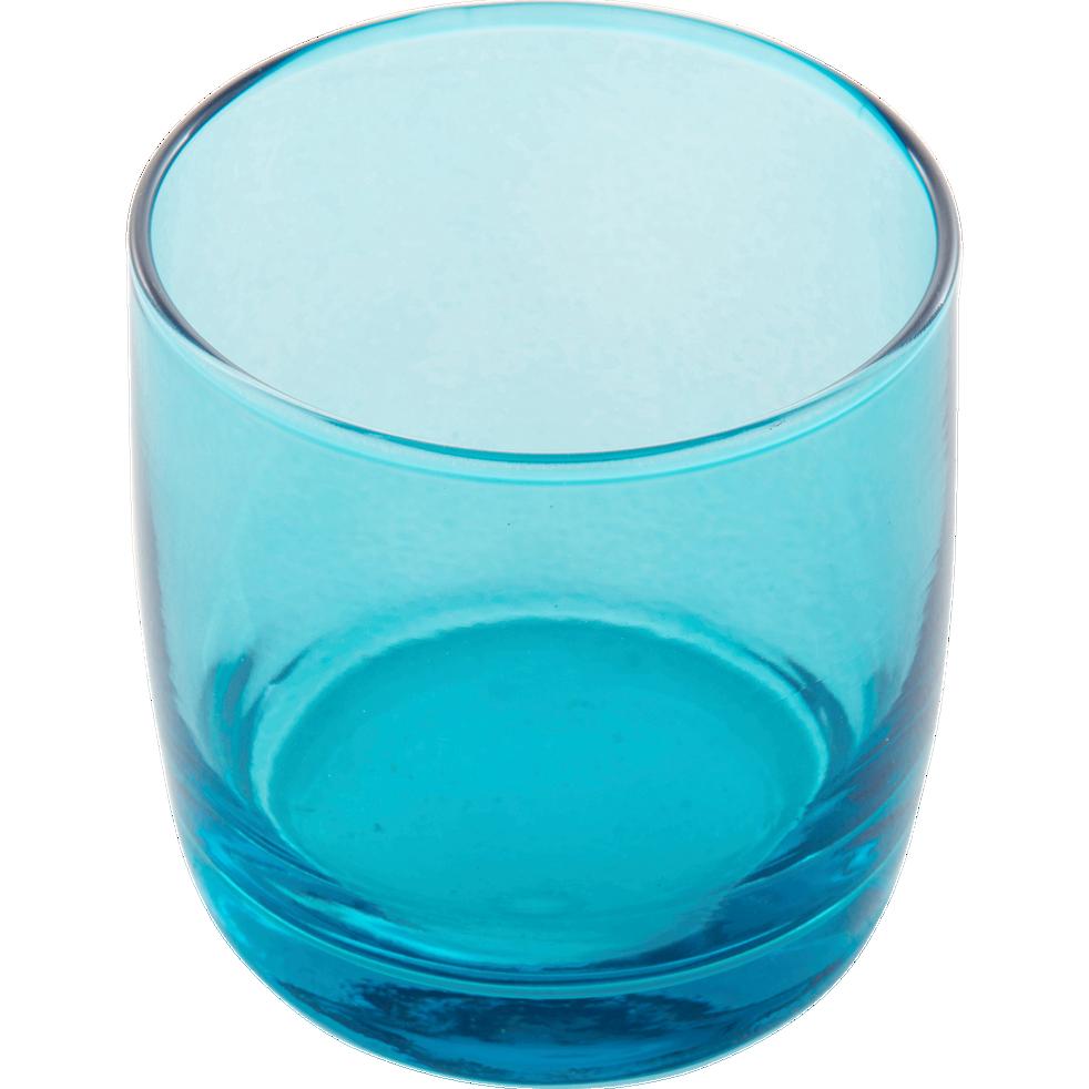 Verre à eau bleu 30cl-BELLI