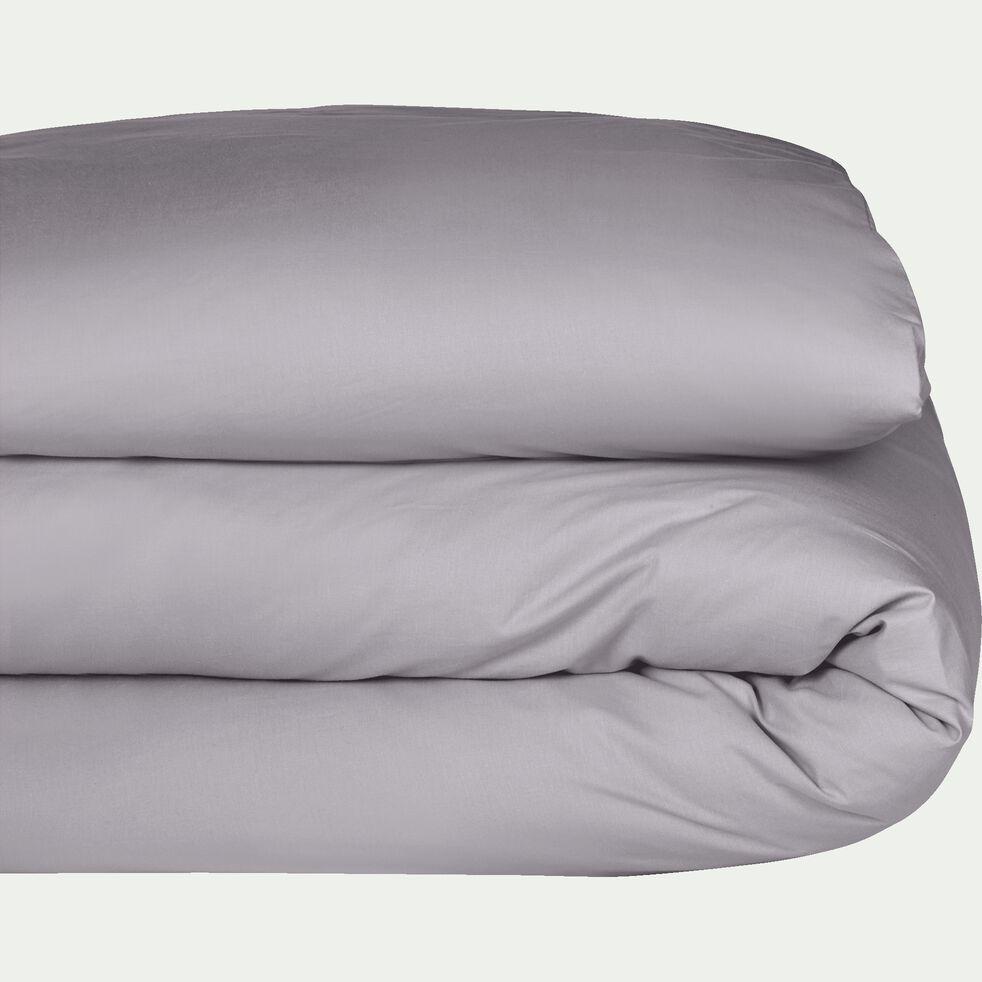 Housse de couette en coton - gris restanque 260x240cm-CALANQUES