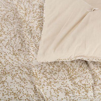 Édredon à motifs floral en lin et coton 100x180cm-GINKO