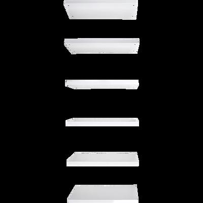 Ensemble de 6 tablettes pour bibliothèque L75cm-LORENA
