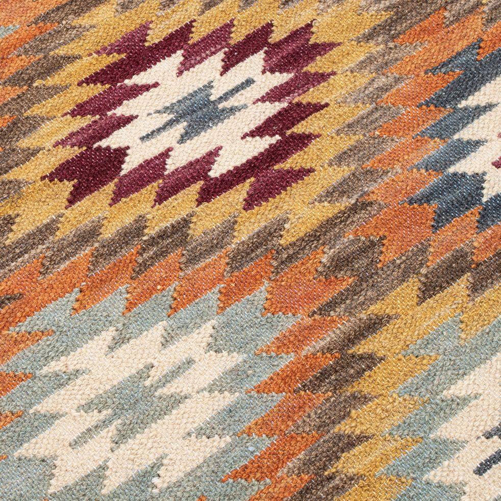 Tapis à motif en laine - multicolore 100x160cm-STELLA