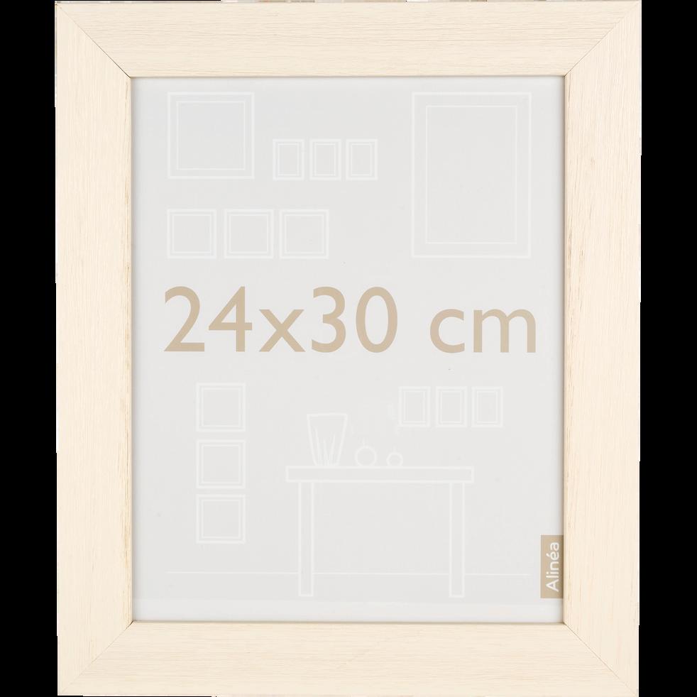 Cadre photo en bois beige 24x30cm-Reggae