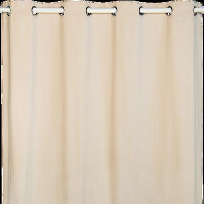 Rideau à œillets en coton beige 140x250cm-METISS