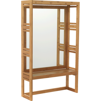 Miroir rectangulaire de salle de bains en bambou H100cm-Danong