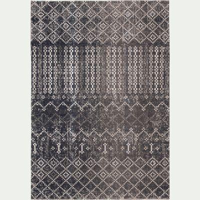 Tapis extérieur et intérieur à motifs bleu 160x230 cm-LISON
