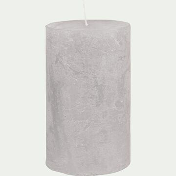 Bougie cylindrique - D7xH11cm gris borie-BEJAIA