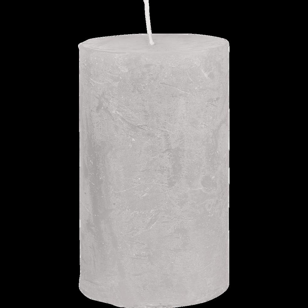 Bougie cylindrique coloris gris borie-BEJAIA