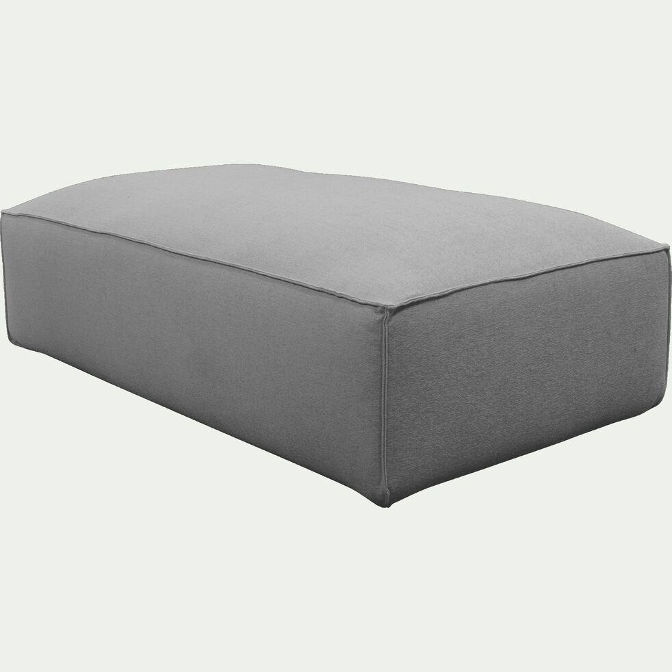 Grand pouf en tissu - L125xH40xl70cm gris vesuve-REVERE
