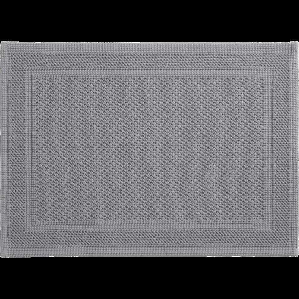 Tapis de bain gris 50x70cm-CLEM
