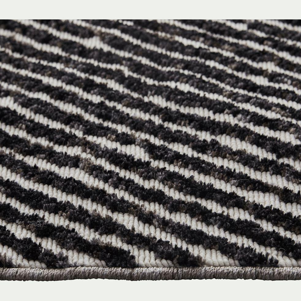 Tapis effet dévoré - marron et blanc 160x230cm-Bocca