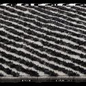 Tapis à rayures blanc et marron 160x230cm-Bocca