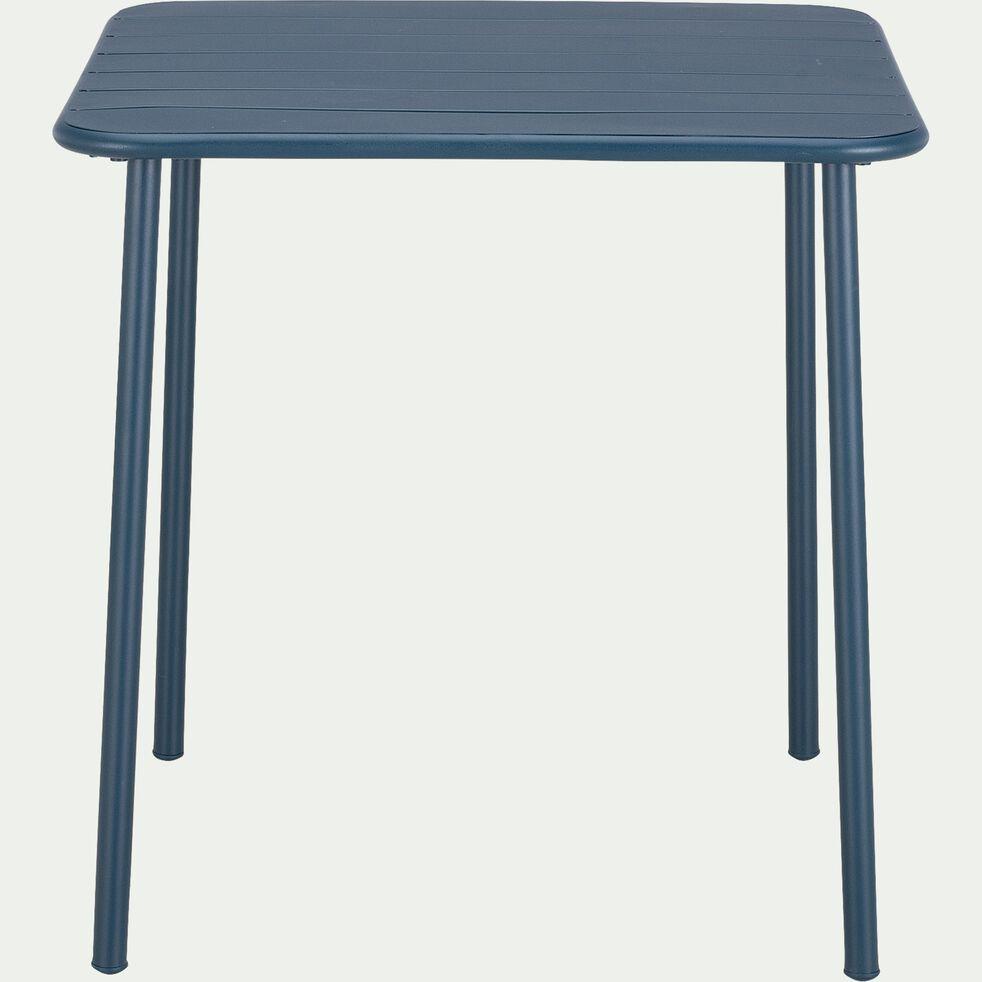 Table de jardin carrée en acier - bleu figuerolles (2 à 4 places)-Souris