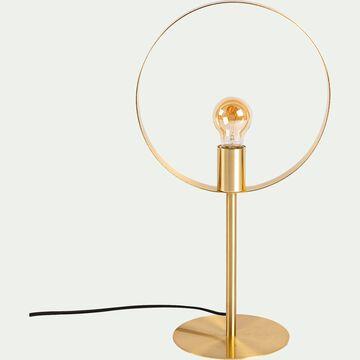 Lampe à poser en métal D28xH51,50cm - doré-JULIANE