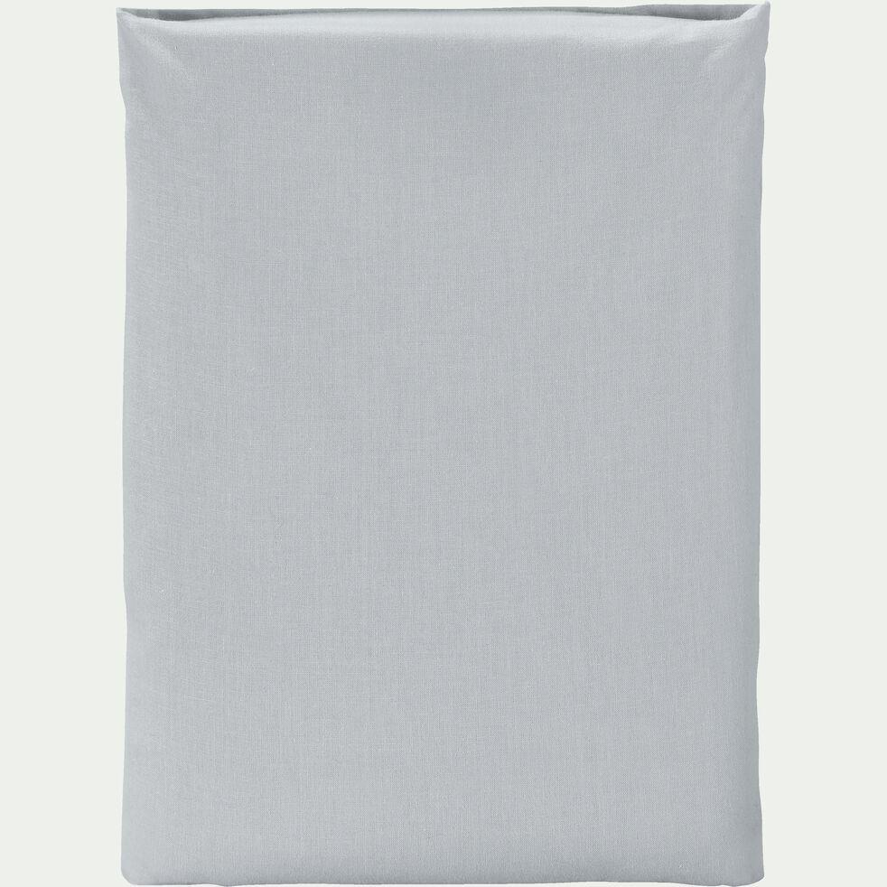 Drap plat en coton - gris borie 180x300cm-CALANQUES