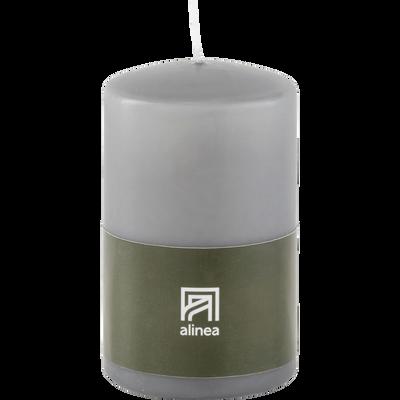 Bougie cylindrique gris restanque-HALBA