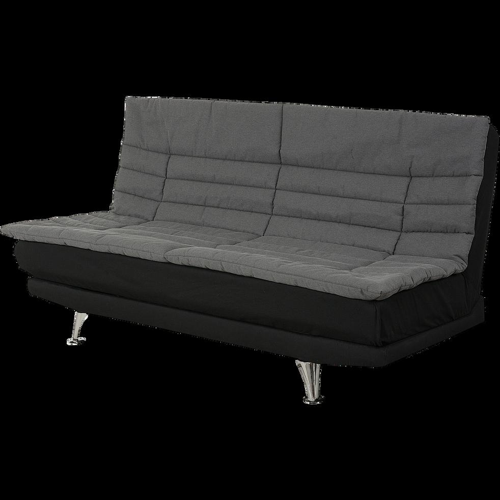 ensemble clic clac 120cm avec matelas dunlopillo et housse grise pagoda canap s clic clac. Black Bedroom Furniture Sets. Home Design Ideas