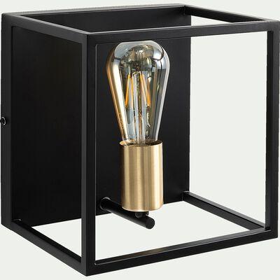 Applique en acier L22xl18xH22cm - noir et or-ROBIN