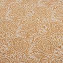 Housse de couette en lin motif Amande - jaune 240x220cm-GOYA