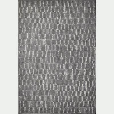 Tapis à motifs - gris 160x230cm-Basile