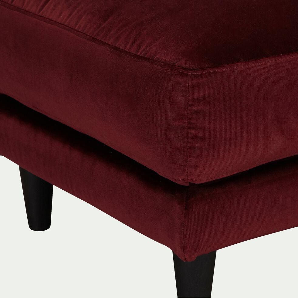 Pouf en velours - rouge sumac-LENITA