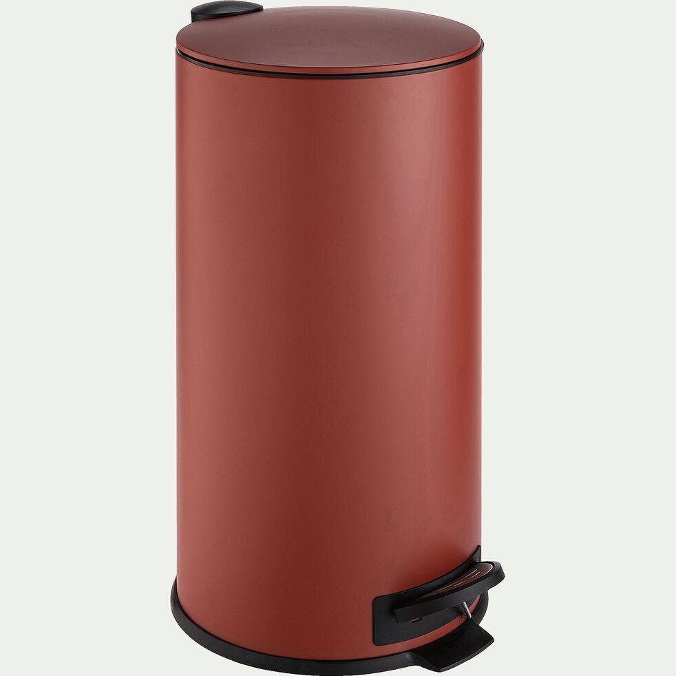 Poubelle en fer - rouge 27L-LUDER