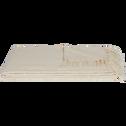 Plaid tissé en coton naturel 180x230cm-CALI