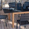Table extensible en céramique - gris anthracite L180-240x95cm-JEPARA