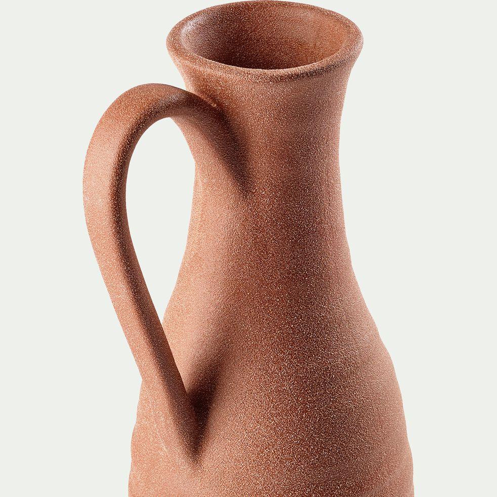 Vase finition sablée en céramique - rose argile H63,5cm-PAULINE